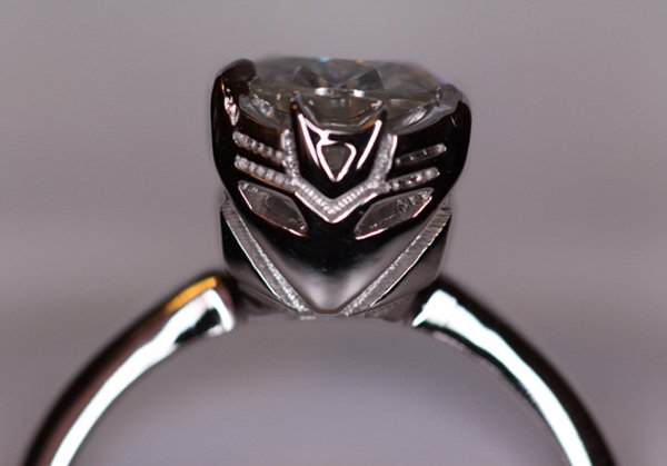 transformers decepticon engagement ring