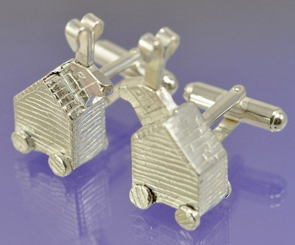 Trojan Rabbit Cufflinks Perfect for Python Pformals