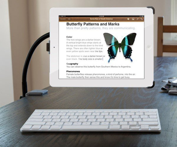 Twelve South HoverBar Floats Your iPad 2 to Just the Right Spot