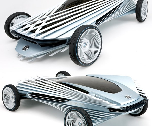 Volkswagen Optism Optical Illusion Car Looks Like a Toy