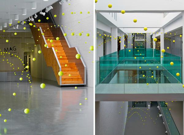 2000 Tennis Balls Art