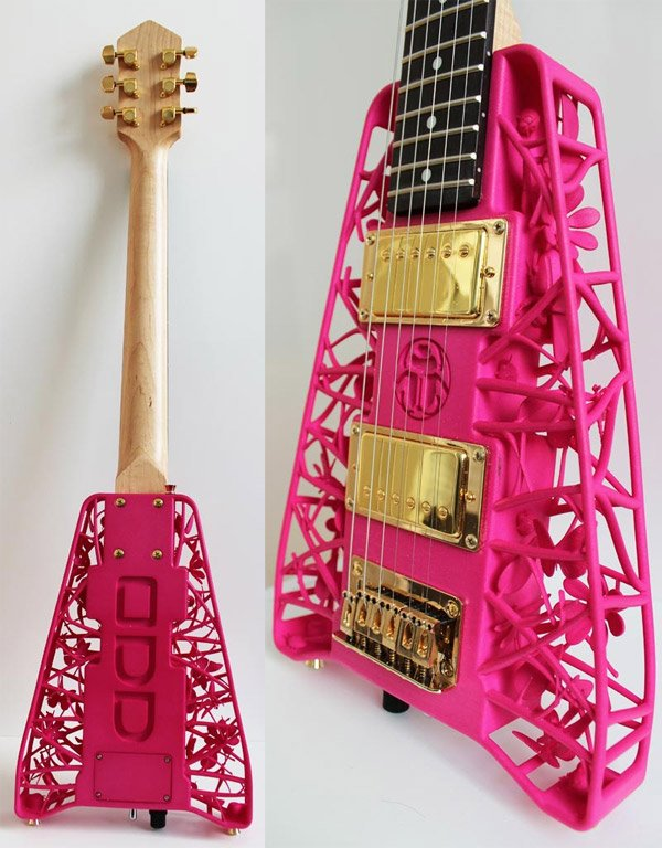 3d printed guitars 3