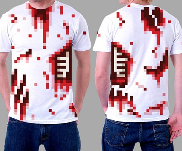 8-bit Zombtee: Shirt 4 Undead