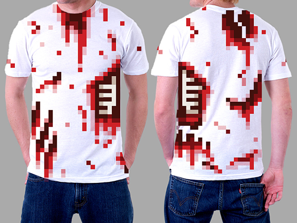 8 bit zombtee t shirt by luke morgan