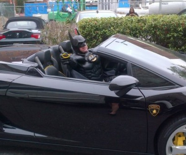 Lamborghini Batman Gets Pulled Over