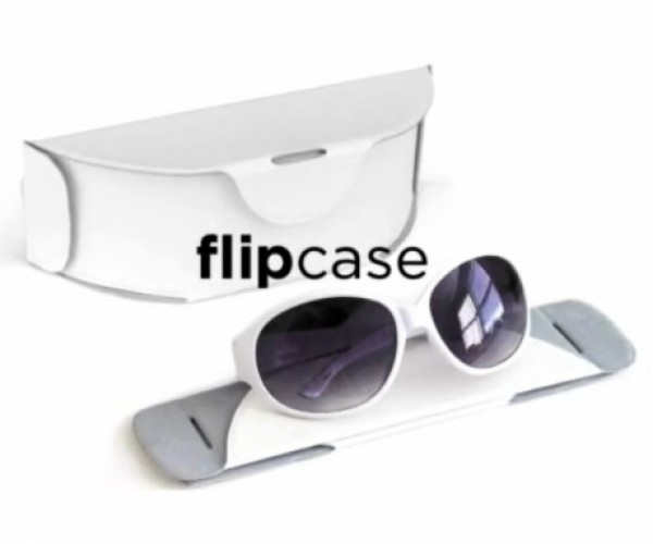 Flipcase is a Space-Saving Collapsible Sunglass Case