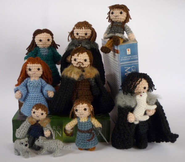 Game of Thrones crocheted starks