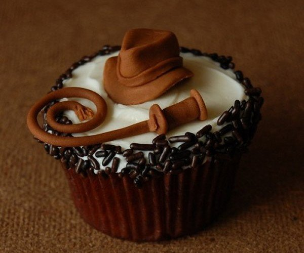 Indiana Jones Cupcake: Throw Me the Icing, I'll Throw You the Whip!