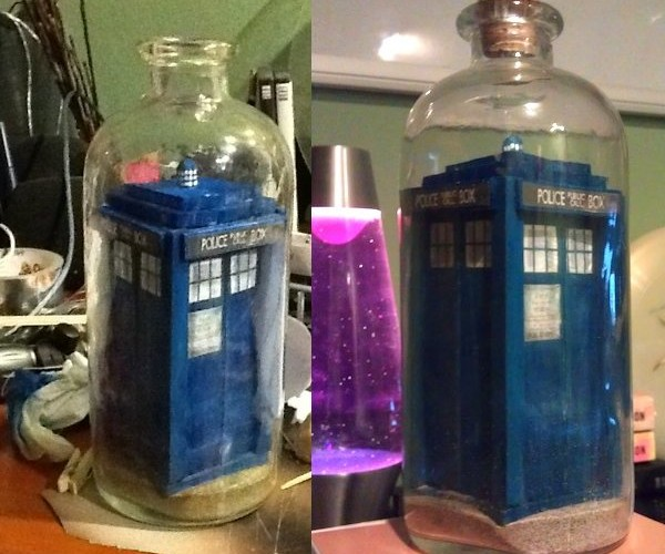 TARDIS in a Bottle, Which is Bigger on the Inside?