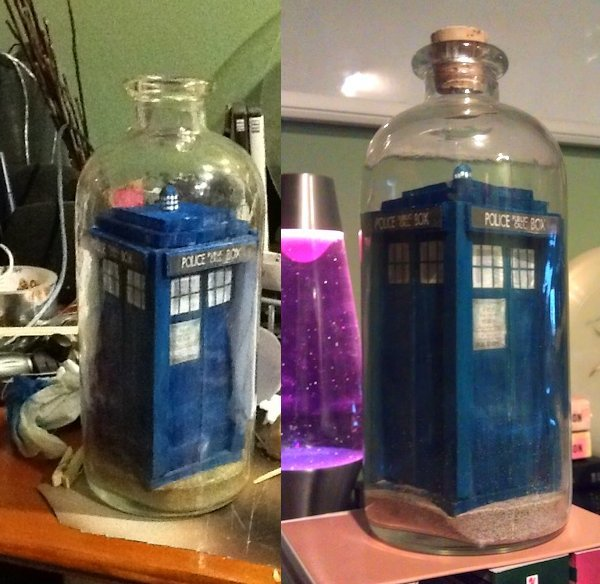 Tardis in a bottle1