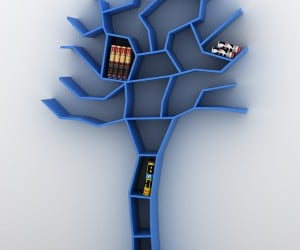 Tree Bookcase Grows Books, Not Leaves