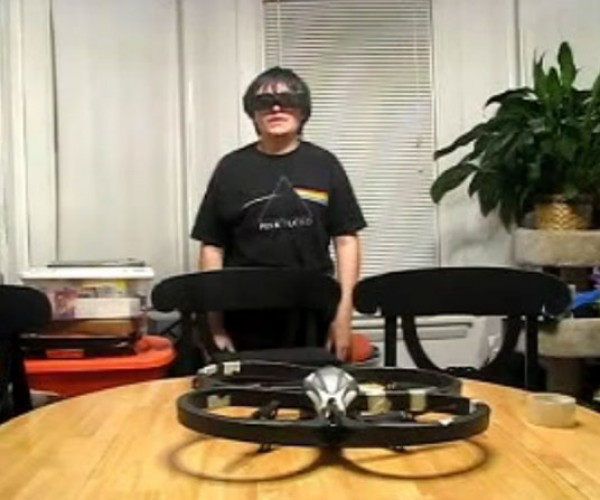 Epson Moverio BT-100 Video Glasses Hacked to Control Parrot AR.Drone