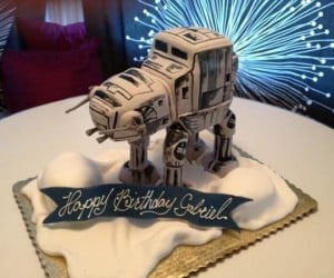 AT-AT Cake: Hothy Birthday to You!
