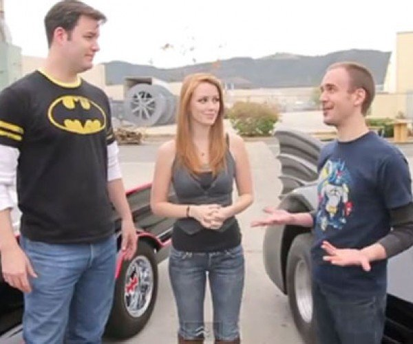 Batmobile Drag Race: Let's Hope Nobody Loses a Wheel