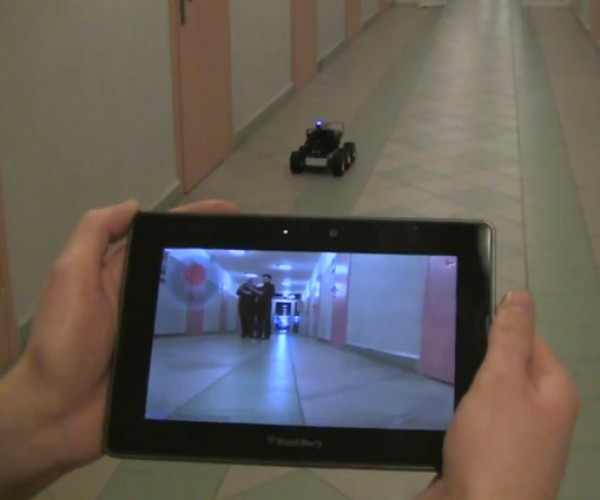 Blackberry PlayBook Drives R/C Robot Car