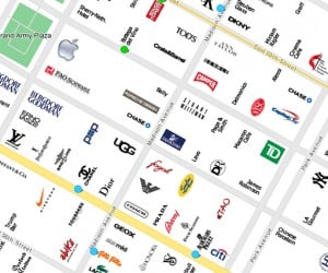 CityMaps Uses Brand Logos as Landmarks, Doubles as Social Commentary