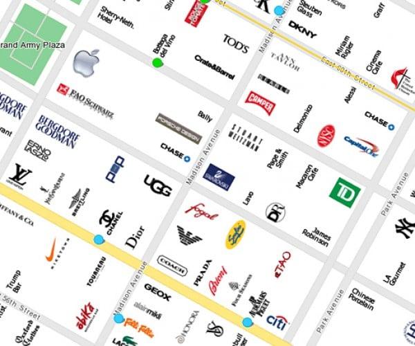 CityMaps Uses Brand Logos as Landmarks, Doubles as Social Commentary