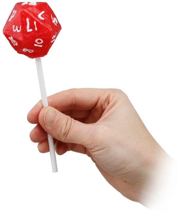 d20 lollipop from thinkgeek