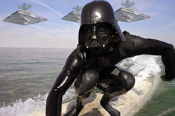 darth vader star wars surfing