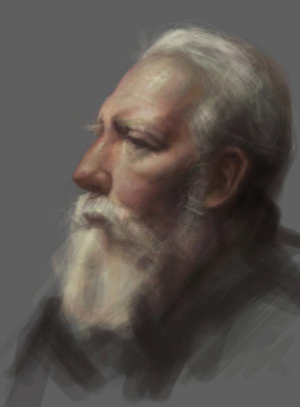 david kassan ipad portraits old man
