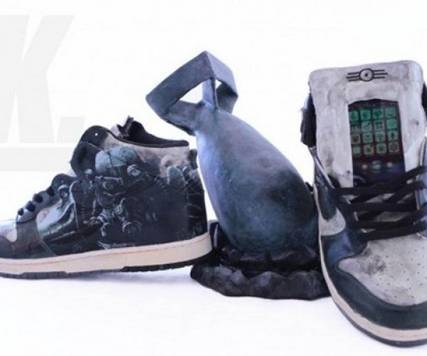 Custom Fallout Vault Dweller Sneakers Have a Pip-Boy in Each Tongue