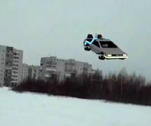 Back to the Future Flying DeLorean Quadrotor: Shut Up and Take My Money!