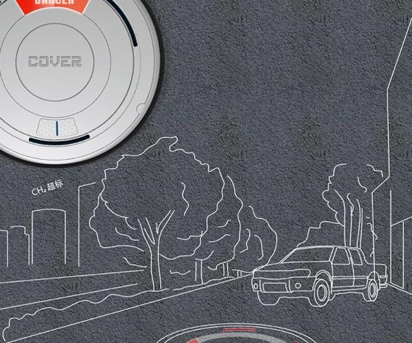 Green Manhole Cover Harnesses Kinetic Energy