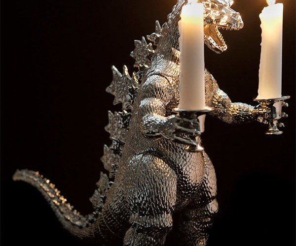 Godzilla Candelabra: Stomps on Cities, Then Burns Them to the Ground