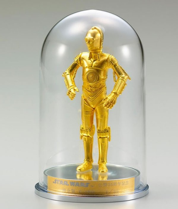 gold c-3po silver r2-d2 figurines 2