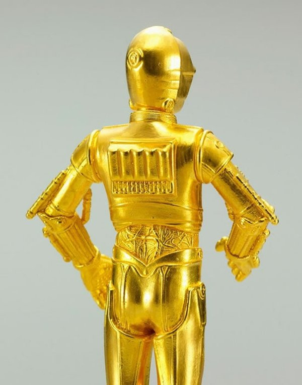 gold c 3po silver r2 d2 figurines 3
