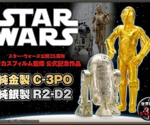 Solid Gold C-3PO & Sterling Silver R2-D2 Figurines: The Luxury Items You Weren't Looking for