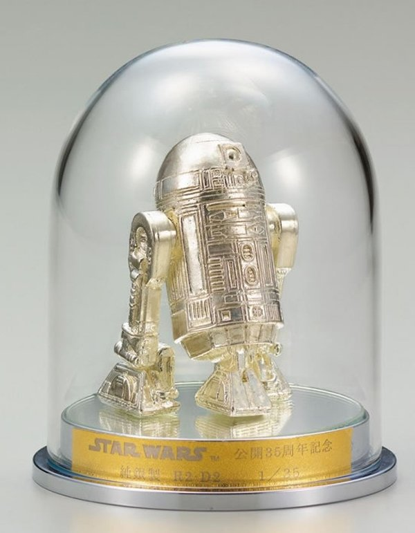 gold c 3po silver r2 d2 figurines 4