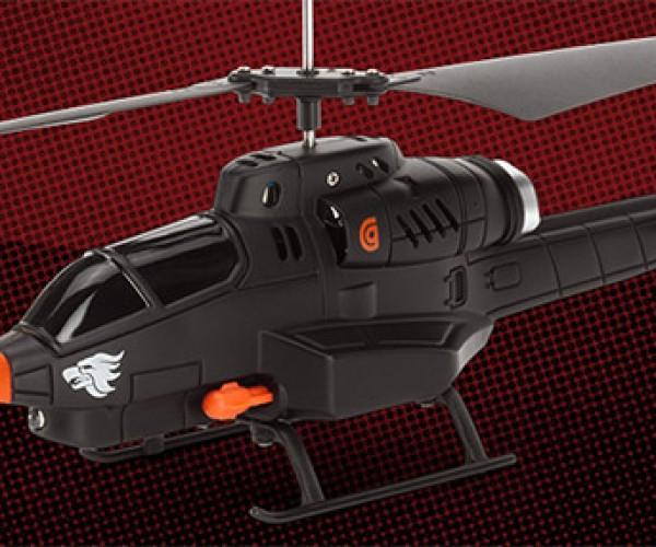 Missile-Firing Griffin Helo TC Assault Copter Flies Skyward