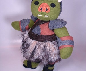 Adorable Plush Gamorrean Guard Works for Jabba the Stuffed