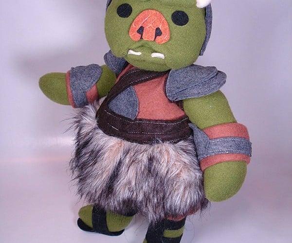 Adorable Plush Gamorrean Guard Works for Jabba the Stuffed
