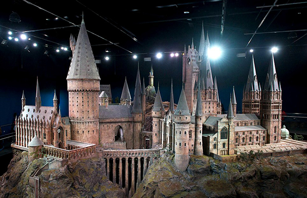 hogwarts model prop to go on display was actually built