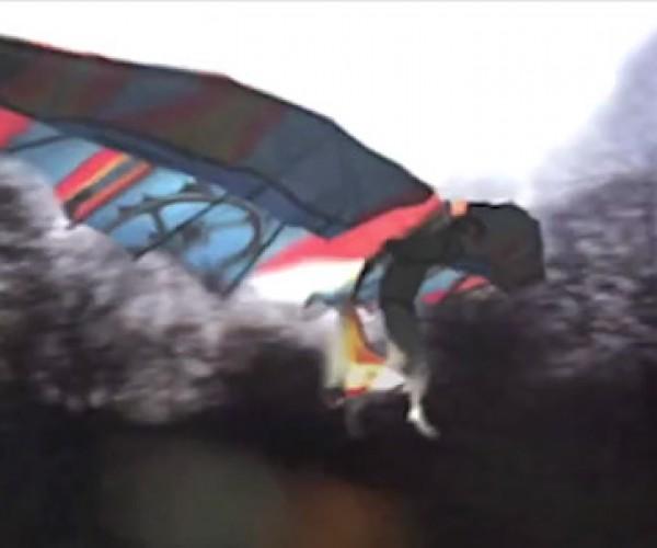 Bird Man Flies with Homemade Wings?