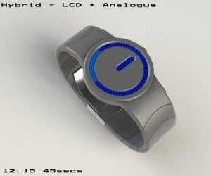 Tokyoflash Hybrid Watch Concept Beautifully Merges Analog with Digital