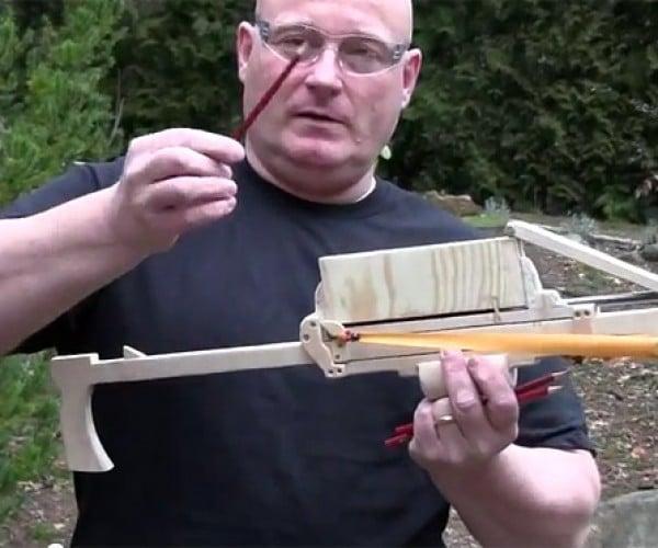 Joerg Sprave Outs the Pump-Action Pencil Launcher: Teachers Run for Cover