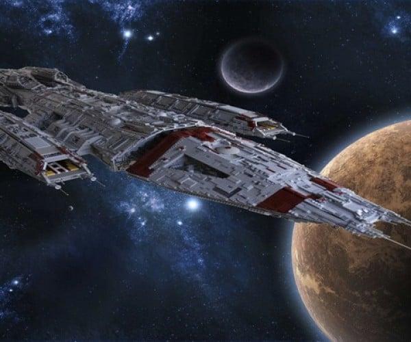 The 111-Pound LEGO Battlestar Galactica Valkyrie