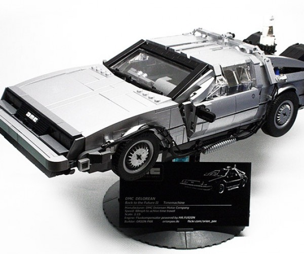 Scale LEGO Back to the Future Delorean Doesn't Need Roads