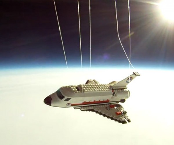 LEGO Space Shuttle Flies High into the Stratosphere