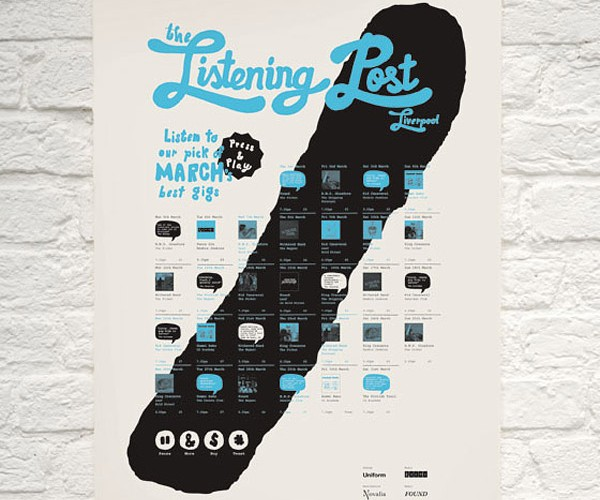 Interactive Musical Poster Promotes Bands with Their Own Music