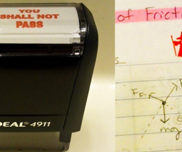 Lord of the Rings You Shall Not Pass Stamp: G+ for Gandalf