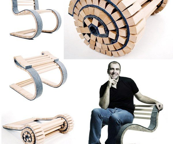 Miesrolo Folds Out Into a Chair, Rolls Right Back Up