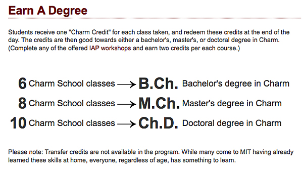 MIT charm school 2