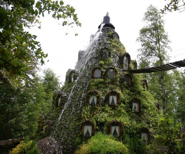 "Chile's Volcano Hotel that ""Erupts"" with Water Every Once in a While"
