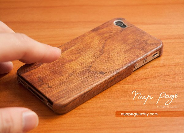nappage iphone woodgrain case
