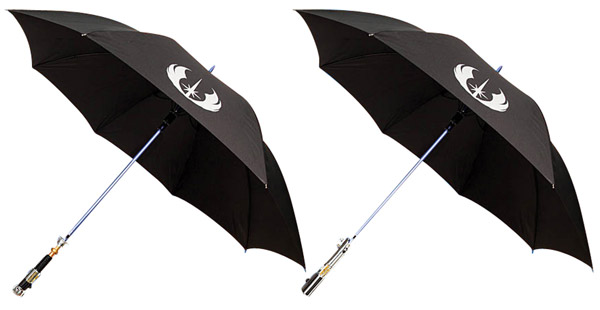 obi wan anakin lightsaber umbrellas