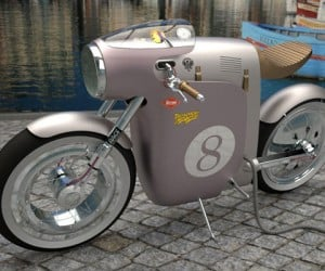 OSSA Monocasco Electric Bike Concept: 1970s Style, 21st Century Tech